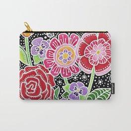 Folk Art Flowers Carry-All Pouch