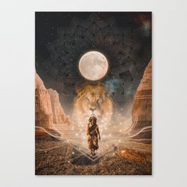 Full Moon in Leo Canvas Print