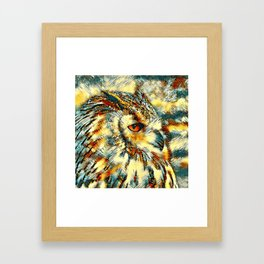 AnimalArt_Owl_20170917_by_JAMColorsSpecial Framed Art Print
