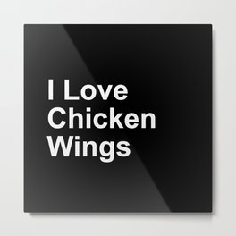 Chicken Wings Metal Print