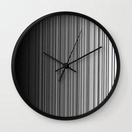 Sleek Gray Toned Stripes and Silvery Moon Wall Clock