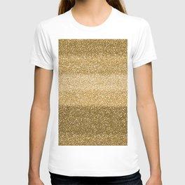 Glitter Glittery Copper Bronze Gold T-shirt