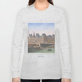 Paris art print Paris Decor office decoration vintage decor HOTEL DE VILLE of Paris Long Sleeve T-shirt