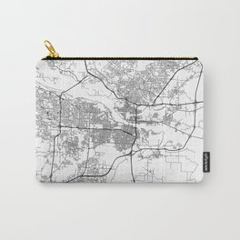 Minimal City Maps - Map Of Little Rock, Arkansas, United States Carry-All Pouch