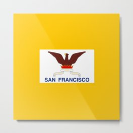 Flag of San Francisco Metal Print