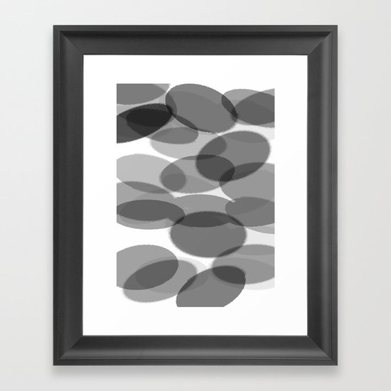 siyah beyaz Framed Art Print
