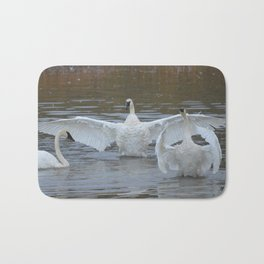 Swan Dance - Two out of Three Bath Mat