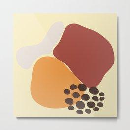 Nude Modern Abstract Metal Print