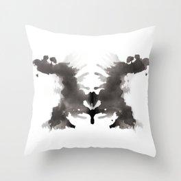 Rorschach test 3 Throw Pillow