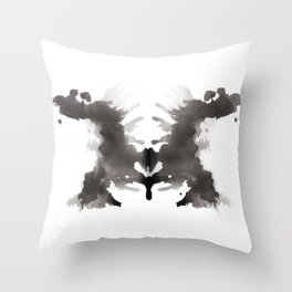 Rorschach test 3 Throw Pillow