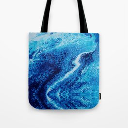 Psycho - Let the River Flow, Blue Ocean Themed Flow by annmariescreations Tote Bag