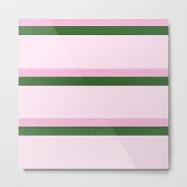 Pink Roses in Anzures 2 Stripes 4H Metal Print