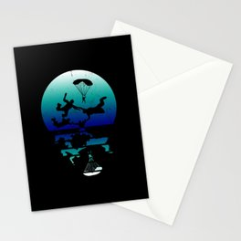 Parachute Jump Skydiver Stationery Cards