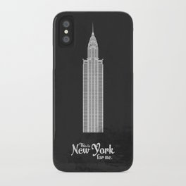 """This is New York for me. """"Chrysler"""" iPhone Case"""