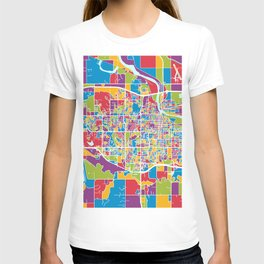 Lawrence Kansas City Map T-shirt