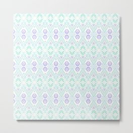 Ikat Java Purple Mini Metal Print