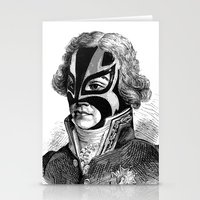 wrestling Stationery Cards featuring WRESTLING MASK 11 by DIVIDUS