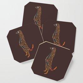Abstract Meerkat Coaster