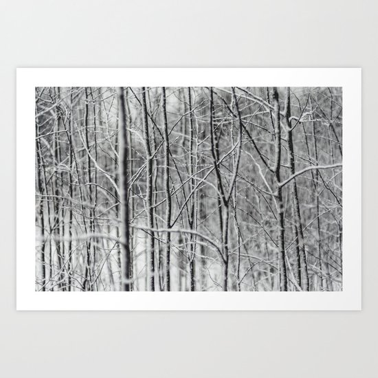 Winter gris Art Print
