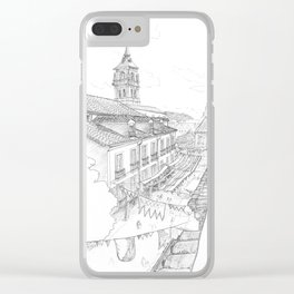 Medieval market Clear iPhone Case