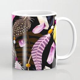 Feathers and Amethyst Coffee Mug