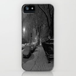 Chicago in Snow: A Study in White and Black #1 (Chicago Winter Collection) iPhone Case