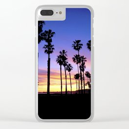 "Sunsets ""Santa Barbara Palms"" Clear iPhone Case"