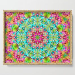 kaleidoscope Flower Abstract G119 Serving Tray