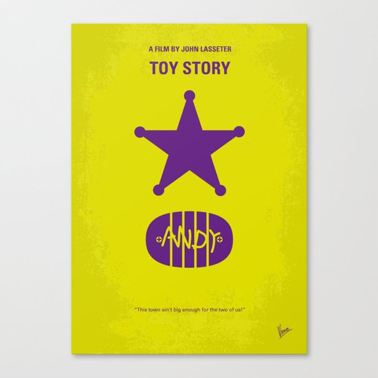 No190 My Toy Story minimal movie poster Canvas Print