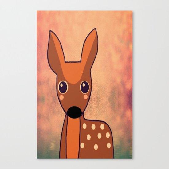 Little Deer-96 Canvas Print