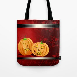 Pumpkins and spooky witches Tote Bag