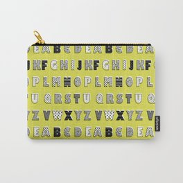 ABC mustard Carry-All Pouch