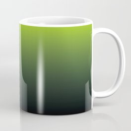 Ombre | Lime Green and Charcoal Grey Coffee Mug
