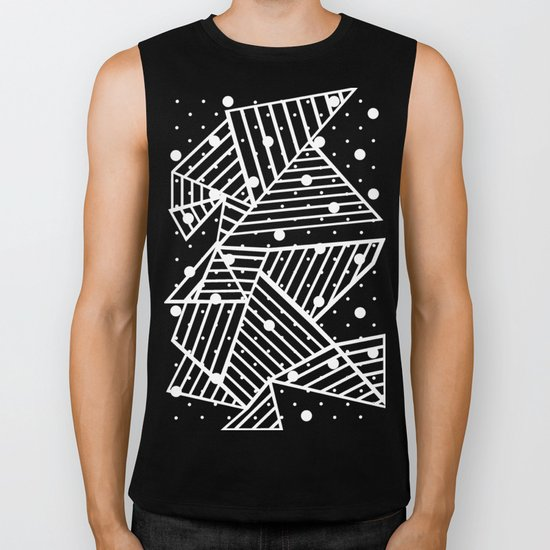 Abstraction Spots Close Up Black Biker Tank