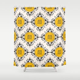 Ethnic Coins Shower Curtain