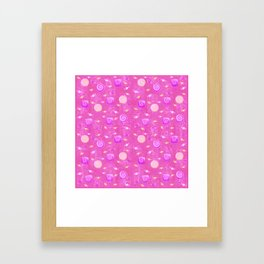 Lollipop And Candy Pink and Yellow Confection Framed Art Print