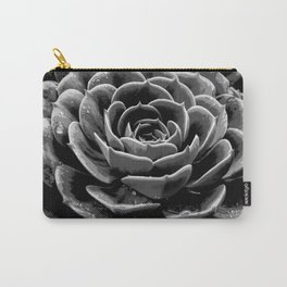 Grey Succulent Carry-All Pouch