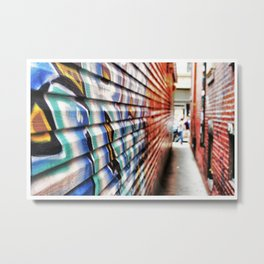 """""""Speak softly, but carry a big can of paint.""""  Metal Print"""