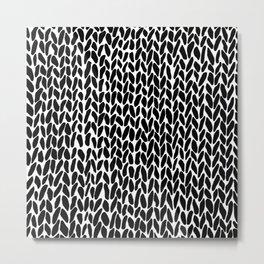 Hand Knit Zoom Metal Print