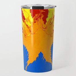 Arizona Flag (Poured Acrylic Style) Travel Mug