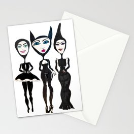 Women in Black Stationery Cards