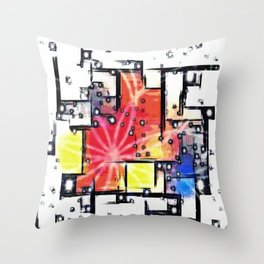 Mondrian's Dream Throw Pillow