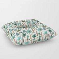 Tropics palm trees pattern print summer tropical vacation design by andrea lauren Floor Pillow