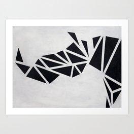 Geo Rhino (oil painting) Art Print