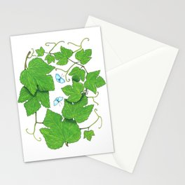 Grape Leaves Stationery Cards