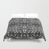moto Duvet Covers featuring Moto Mania by Robbie Kaye
