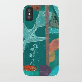 Turquoise Repeat iPhone Case