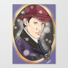 The Doctor and The Snow Canvas Print