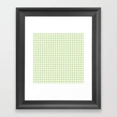 Green Houndstooth Pattern Framed Art Print