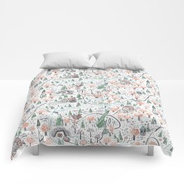 Enchanted Forest Map Comforters